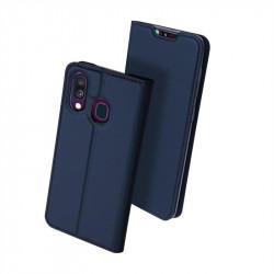 Тънък калъф страничен flip марка DUX DUCIS за Samsung Galaxy A40 –  тъмно син