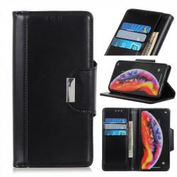 Кожен калъф тип портмоне с магнитна закопчалка за Samsung Galaxy A40 - черен