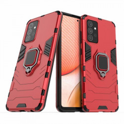 Хибриден гръб със стойка за Samsung Galaxy A72 - червен