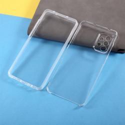Цялостен гръб от силикон и пластмаса за Samsung Galaxy A72 - прозрачен