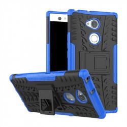 Двупластов гръб със стойка за Sony Xperia XA2 Ultra - син