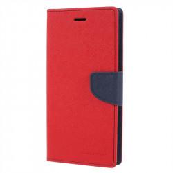Калъф страничен флип модел GOOSPERY, марка Mercury за Sony Xperia XA2 Ultra - червен