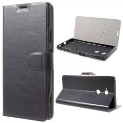 Тънък кожен калъф за Sony Xperia XA2 Ultra – черен
