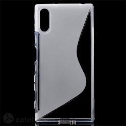 Силиконов калъф за Sony Xperia XZ със S-образен дизайн - прозрачен