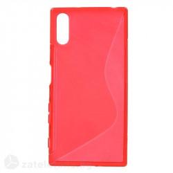 Силиконов калъф за Sony Xperia XZ със S-образен дизайн - червен