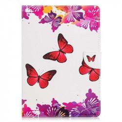 Калъф за Huawei MediaPad T3 10 инча - червени пеперуди