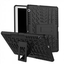 Двупластов гръб със стойка за Huawei MediaPad T3 10 инча - черен