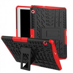 Двупластов гръб със стойка за Huawei MediaPad T3 10 инча - червен