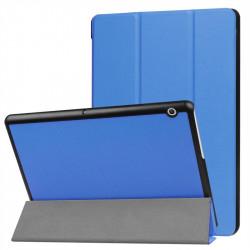 Кожен калъф със сгъващ се капак за Huawei MediaPad T3 10 инча - светло син