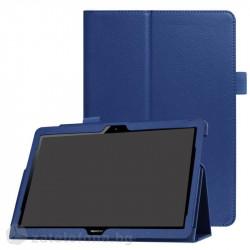Кожен калъф за Huawei MediaPad T3 10 инча - син