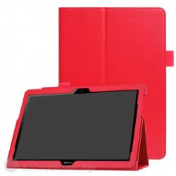 Кожен калъф за Huawei MediaPad T3 10 инча - червен