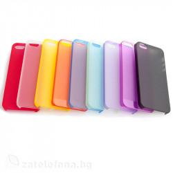 Полупрозрачен пластмасов калъф за iPhone 5