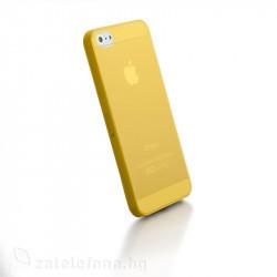 Полупрозрачен пластмасов калъф за iPhone 5 - жълт