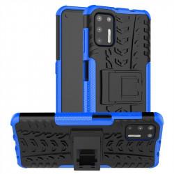 Двупластов гръб със стойка за Motorola Moto G9 Plus - син