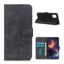 Кожен калъф тип портмоне марка KHAZNEH за Motorola Moto G9 Plus - черен
