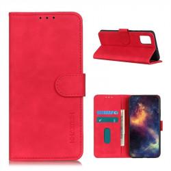 Кожен калъф тип портмоне марка KHAZNEH за Motorola Moto G9 Plus - червен