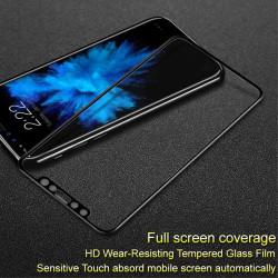 Удароустойчив стъклен протектор покриващ целия екран марка IMAK за iPhone X - цвят черен