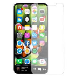 Удароустойчив стъклен протектор покриващ целия екран за iPhone X - цвят черен